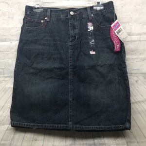 "Skechers ""Something'Else jean distressed skirt"
